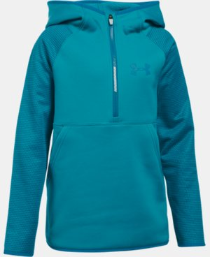 Girls' UA Armour® Fleece Printed 1/2 Zip Hoodie LIMITED TIME OFFER + FREE U.S. SHIPPING 3 Colors $29.99