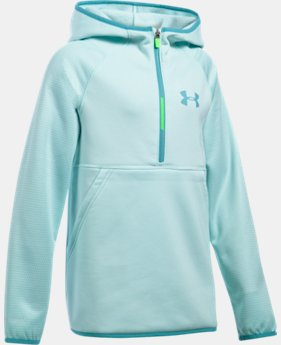 Girls' UA Armour® Fleece Printed 1/2 Zip Hoodie