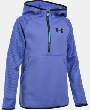 New Arrival Girls' UA Armour® Fleece Printed 1/2 Zip Hoodie   $54.99