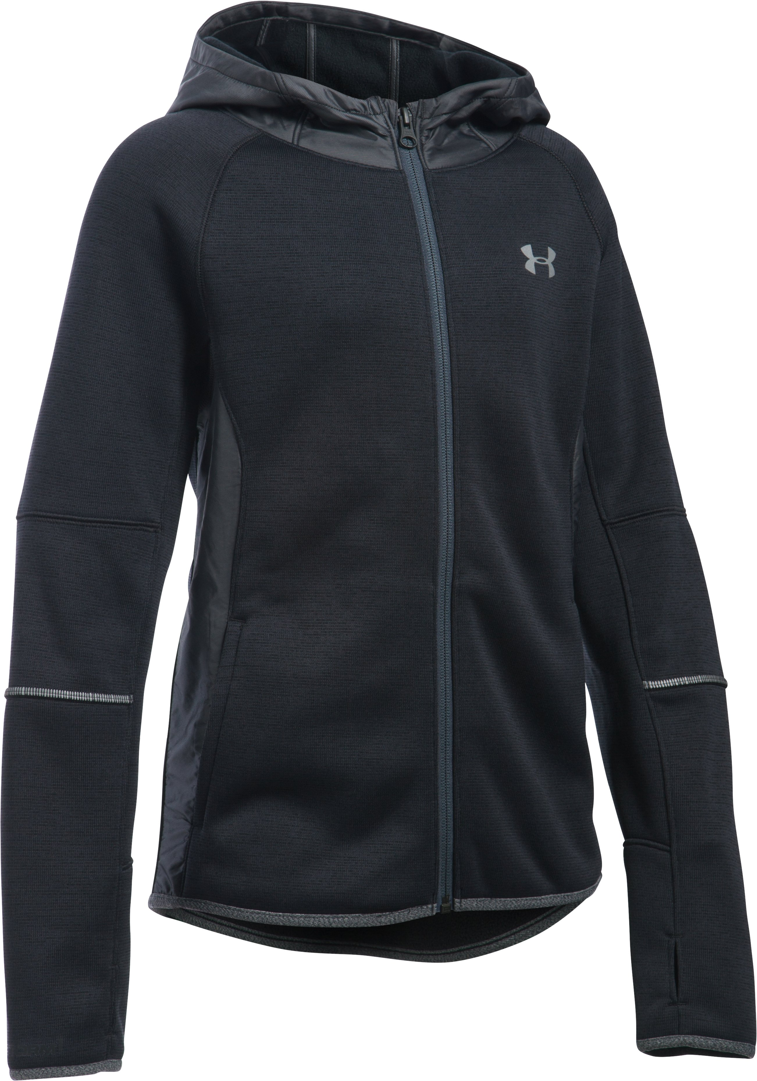 Girls' UA Swacket, Black ,