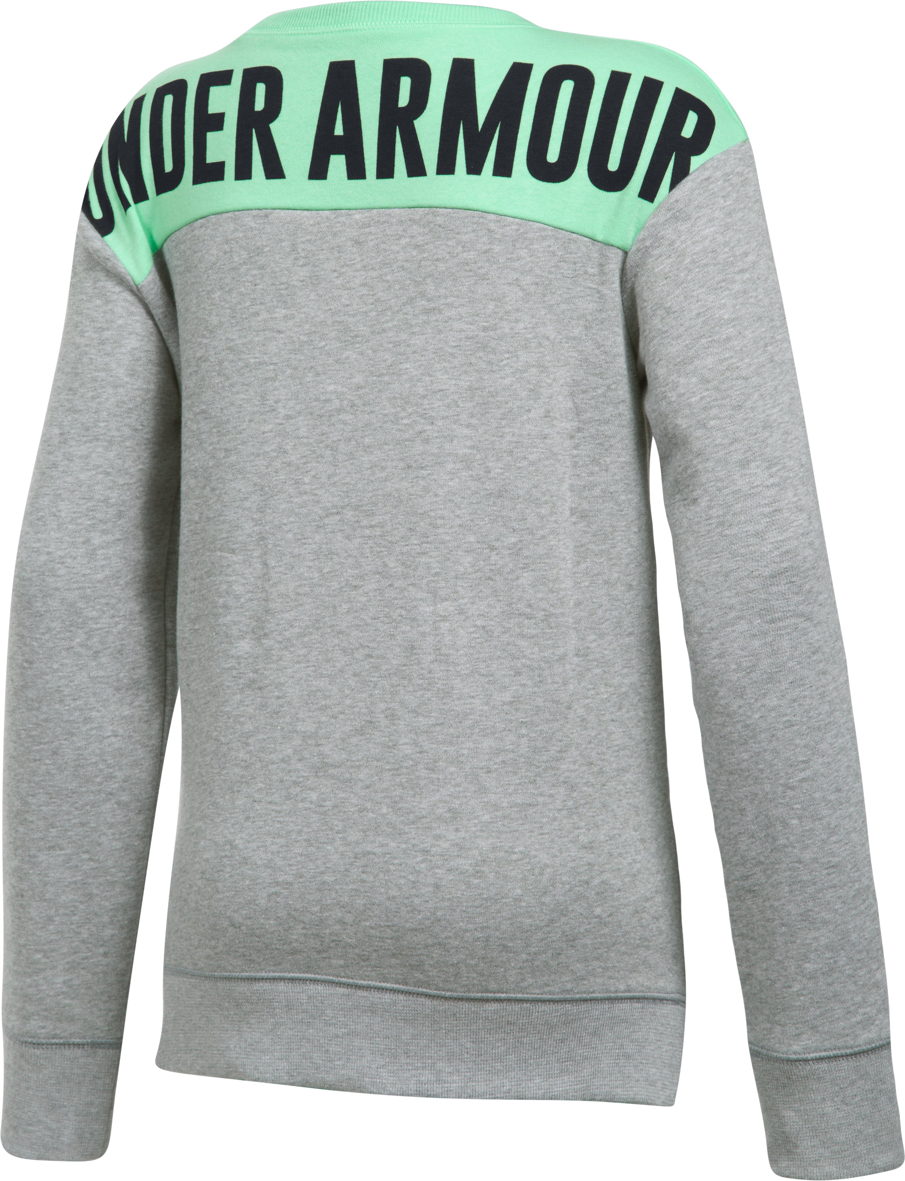 Girls' UA Favorite Fleece Crew, True Gray Heather,