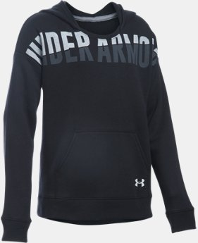 New Arrival  Girls' UA Favorite Fleece Hoodie LIMITED TIME: FREE SHIPPING 1 Color $49.99