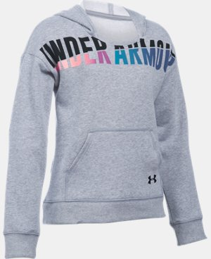 New Arrival  Girls' UA Favorite Fleece Hoodie LIMITED TIME: FREE SHIPPING 6 Colors $49.99