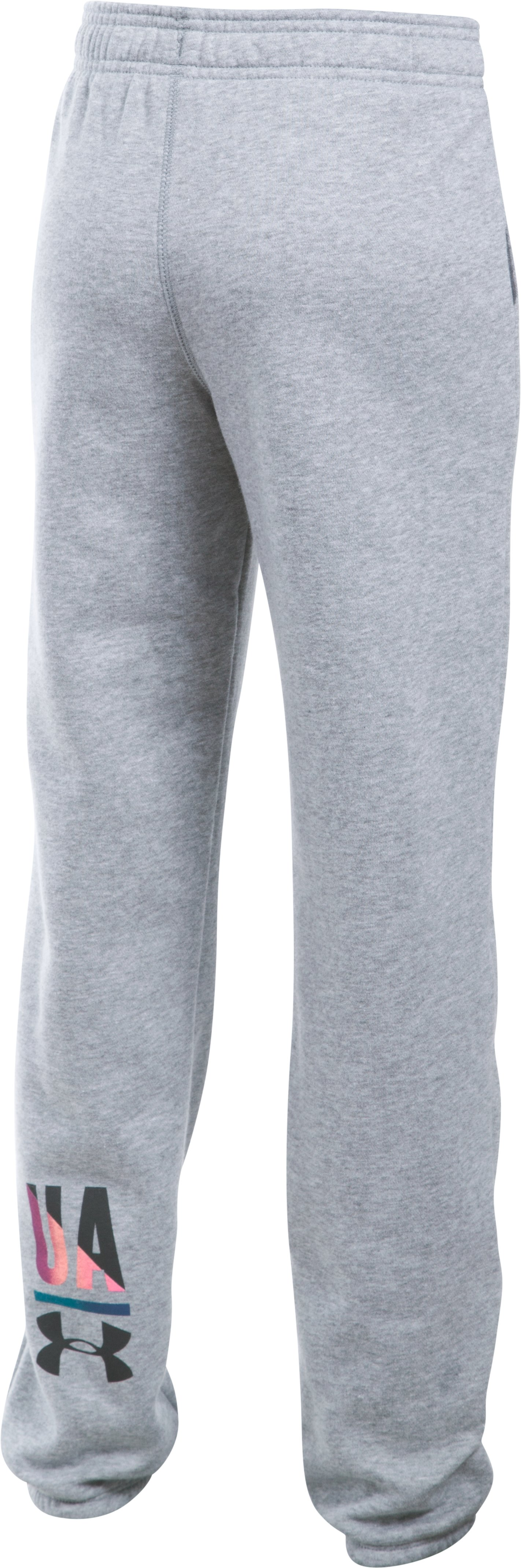 Girls' UA Favorite Fleece Jogger, True Gray Heather, zoomed image