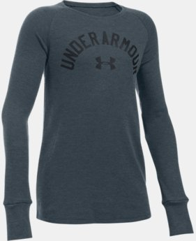 Girls' UA Waffle Long Sleeve LIMITED TIME: 15% OFF 1 Color $26.99 to $39.99
