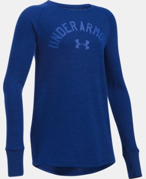 Girls' UA Waffle Long Sleeve  3 Colors $26.99 to $29.99
