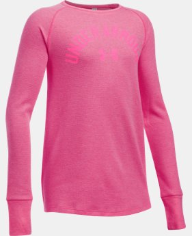 New to Outlet Girls' UA Waffle Long Sleeve   $26.99