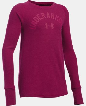 FREE SHIPPING Girls' UA Waffle Long Sleeve LIMITED TIME: FREE SHIPPING 2 Colors $34.99