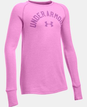 New Arrival  Girls' UA Waffle Long Sleeve  1 Color $39.99