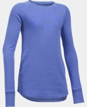 Girls' UA Waffle Long Sleeve  1 Color $21.99