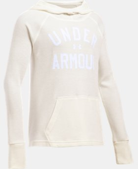 Girls' UA Waffle Hoodie LIMITED TIME: FREE U.S. SHIPPING 1 Color $24.99