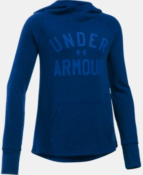 New Arrival Girls' UA Waffle Hoodie  1 Color $39.99