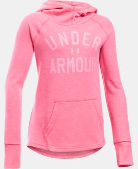 Girls' UA Waffle Hoodie LIMITED TIME OFFER + FREE U.S. SHIPPING 2 Colors $24.99