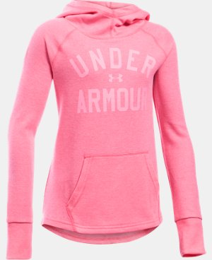 New to Outlet Girls' UA Waffle Hoodie  1 Color $29.99
