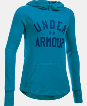 Girls' UA Waffle Hoodie LIMITED TIME OFFER + FREE U.S. SHIPPING 1 Color $24.99
