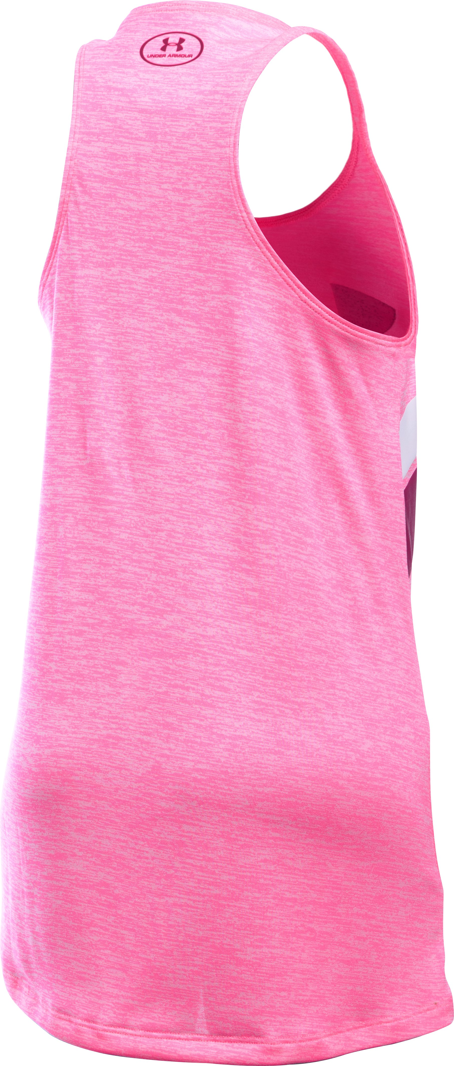 Girls' UA Big Logo Printed Tank, PINK PUNK,