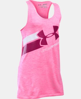 Best Seller Girls' UA Big Logo Printed Tank LIMITED TIME: FREE SHIPPING 1 Color $24.99