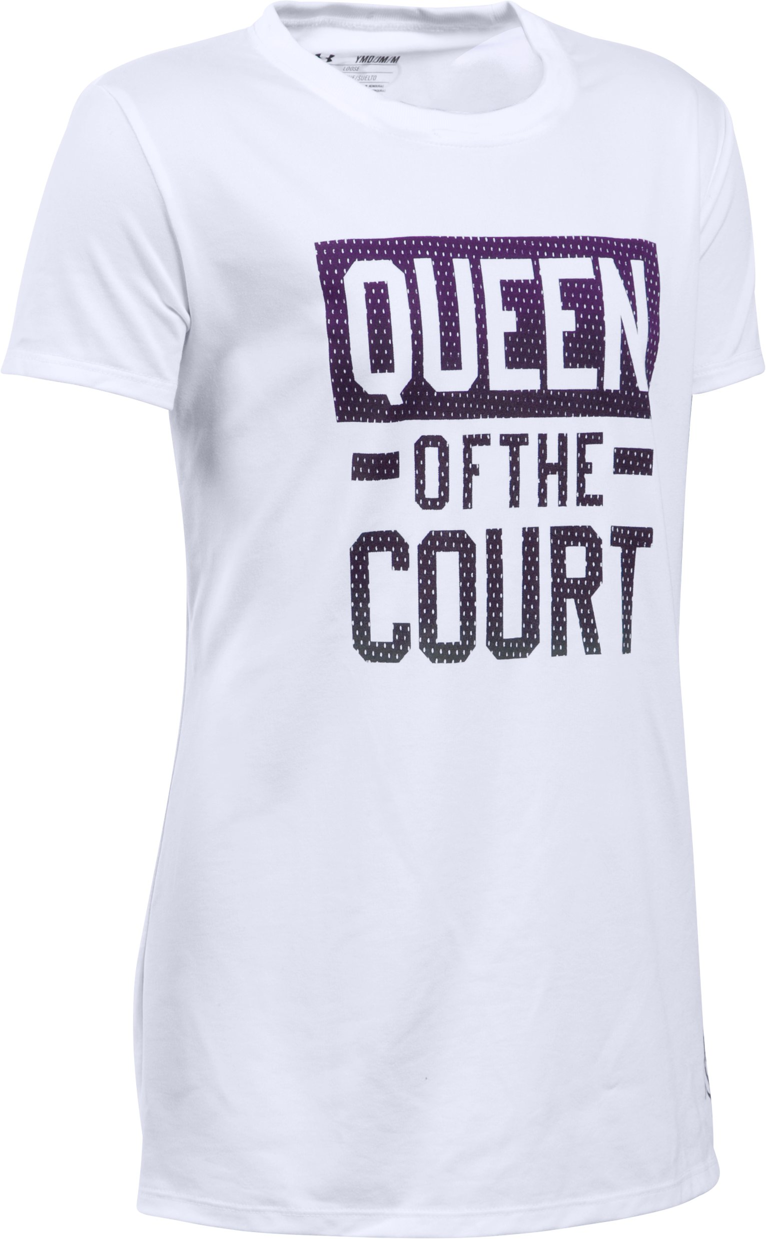 Girls' UA Queen Of The Court T-Shirt, White, zoomed image