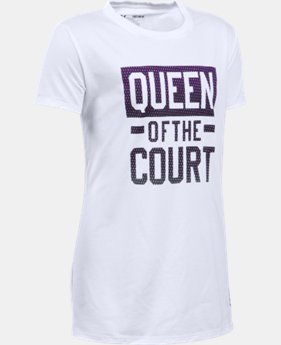 Girls' UA Queen Of The Court T-Shirt LIMITED TIME: FREE U.S. SHIPPING 1 Color $14.99