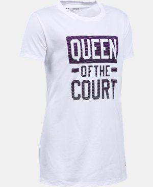 Girls' UA Queen Of The Court T-Shirt  1 Color $19.99