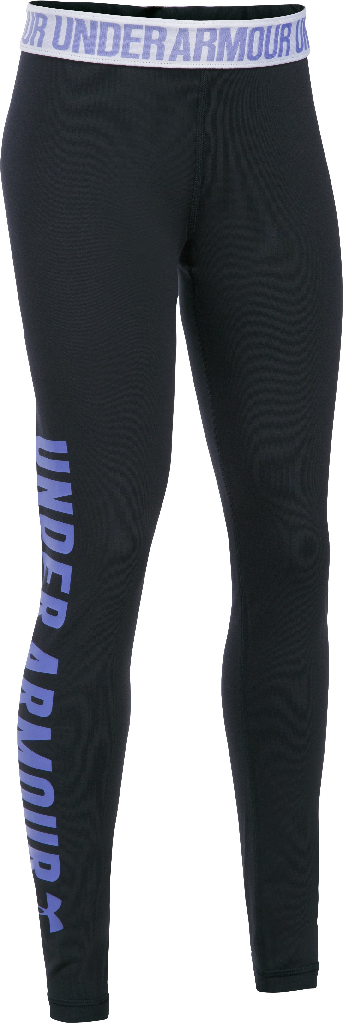 Girls' UA Favorite Campus Novelty Legging, Black , zoomed image