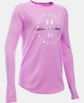 Girls' UA Circle Long Sleeve LIMITED TIME: FREE SHIPPING  $29.99
