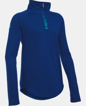 New Arrival  Girls' UA Tech™ 1/4 Zip LIMITED TIME: FREE SHIPPING 1 Color $39.99