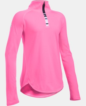 New Arrival Girls' UA Tech™ 1/4 Zip LIMITED TIME: FREE U.S. SHIPPING 1 Color $34.99