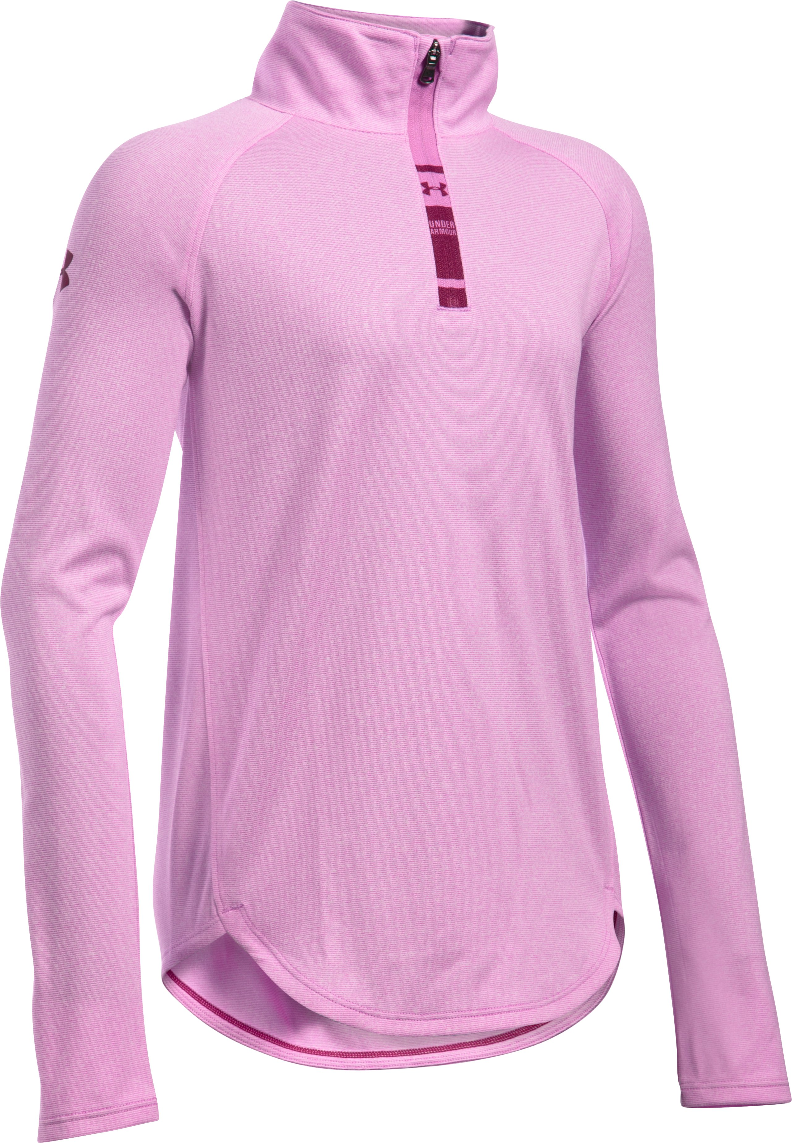 Girls' UA Tech™ ¼ Zip, VERVE VIOLET, undefined