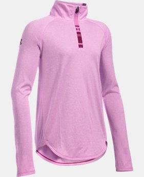 New Arrival  Girls' UA Tech™ Novelty 1/4 Zip  1 Color $44.99