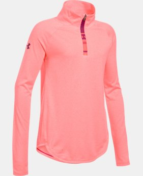 Girls' UA Tech™ Novelty 1/4 Zip LIMITED TIME: FREE U.S. SHIPPING 1 Color $29.99
