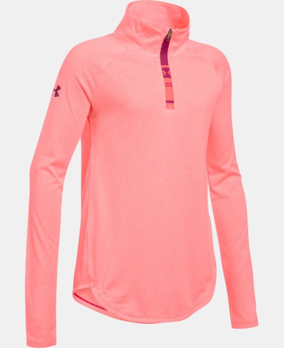 Girls' UA Tech™ Novelty 1/4 Zip LIMITED TIME: FREE SHIPPING 1 Color $44.99