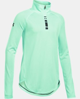 New Arrival Girls' UA Tech™ Novelty 1/4 Zip LIMITED TIME: FREE U.S. SHIPPING 1 Color $39.99