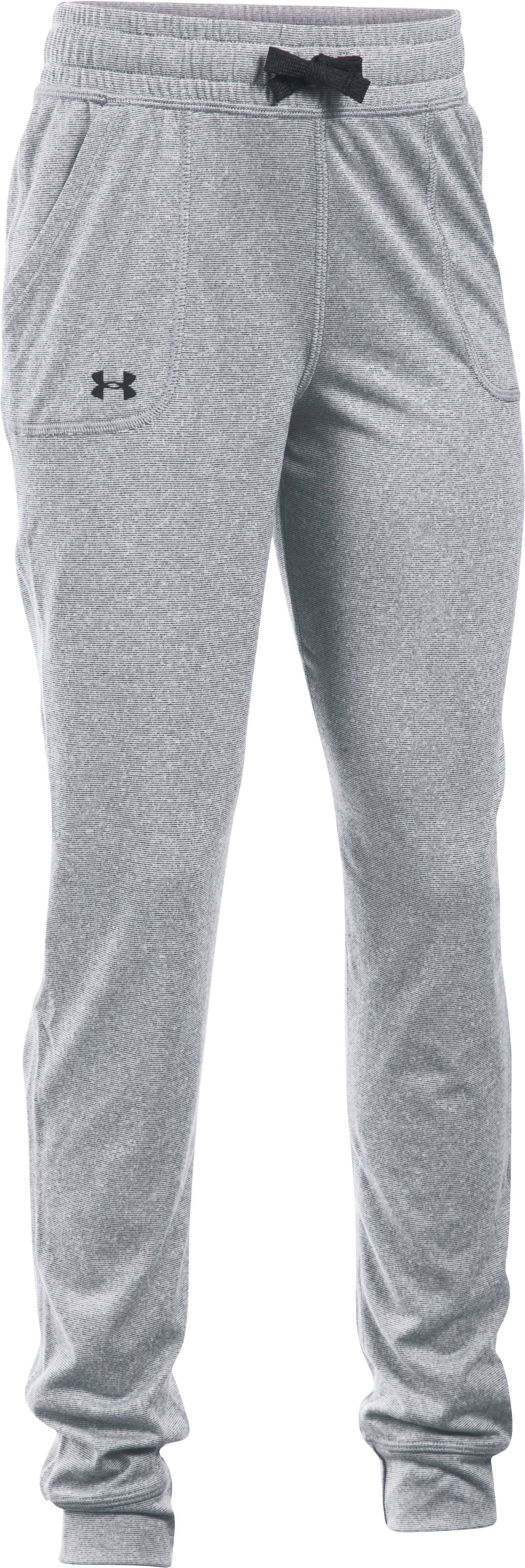 Girls' UA Graphic Texture Tech™ Joggers, STEALTH GRAY, undefined