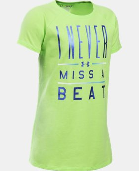 New Arrival Girls' UA I Never Miss A Beat T-Shirt LIMITED TIME: FREE SHIPPING 1 Color $22.99