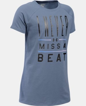 Girls' UA I Never Miss A Beat T-Shirt LIMITED TIME: FREE SHIPPING 1 Color $25.99