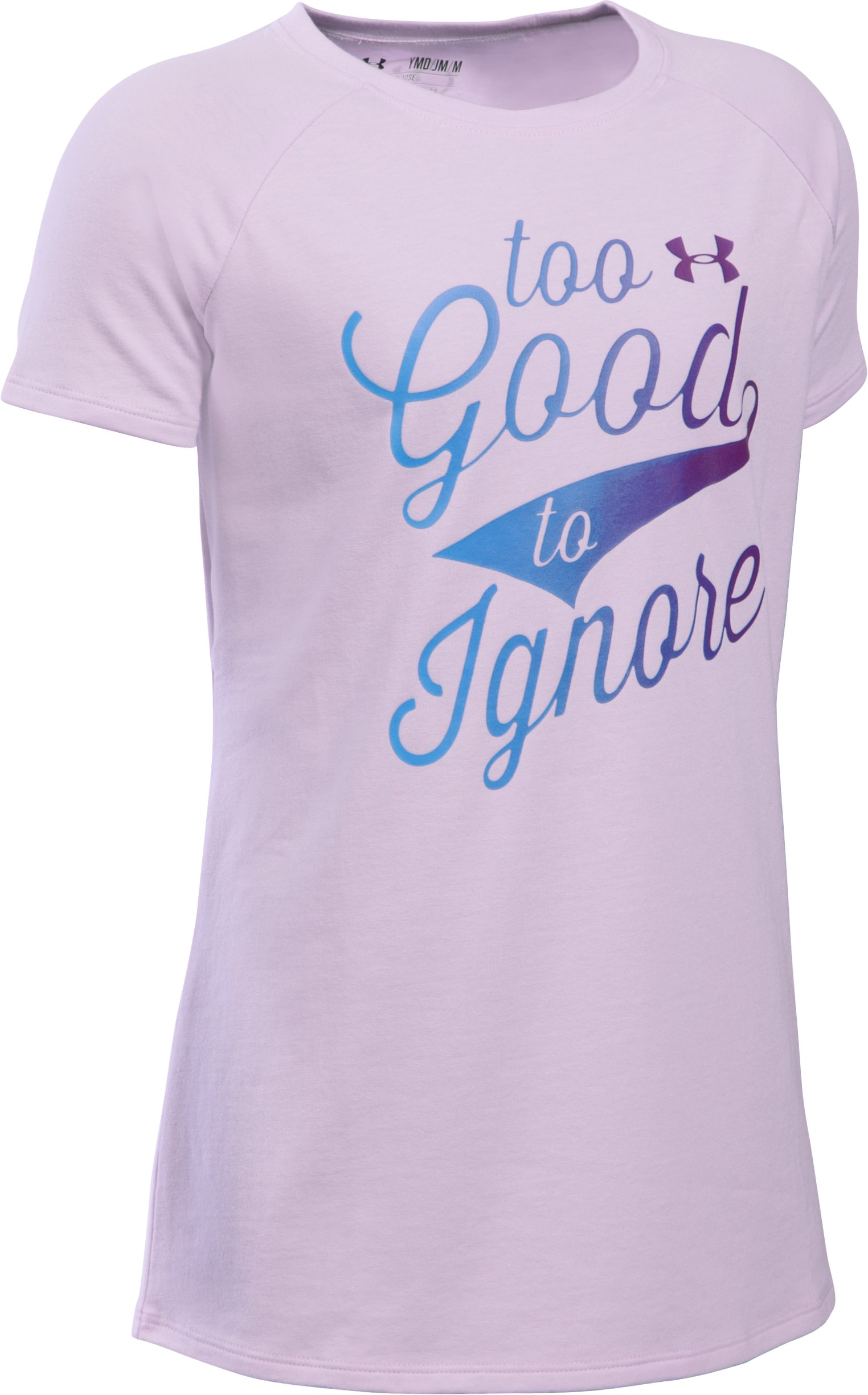 Girls' UA Too Good To Ignore T-Shirt, SMOKY GRAPE