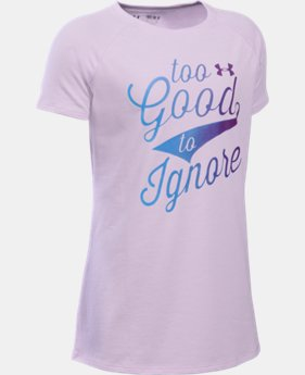 Girls' UA Too Good To Ignore T-Shirt   $19.99