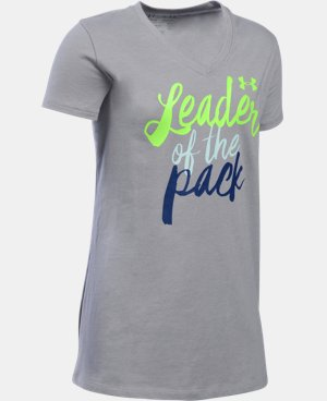 Girls' UA Leader Of The Pack T-Shirt LIMITED TIME: FREE SHIPPING 1 Color $22.99