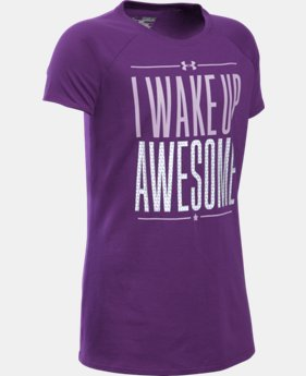 Best Seller Girls' UA I Wake Up Awesome T-Shirt   $19.99