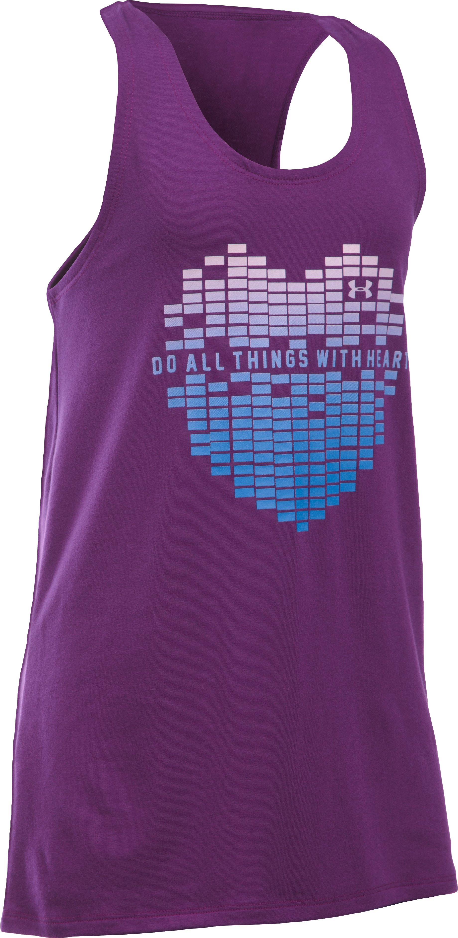 Girls' UA Do All Things With Heart Tank, Hendrix,