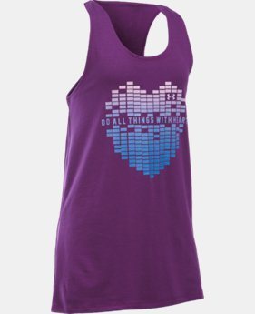 Girls' UA Do All Things With Heart Tank LIMITED TIME: FREE SHIPPING 1 Color $19.99