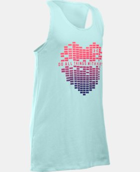 Girls' UA Do All Things With Heart Tank LIMITED TIME: FREE SHIPPING 1 Color $22.99