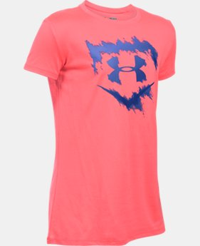 Girls' UA Softball Logo T-Shirt LIMITED TIME: FREE SHIPPING 1 Color $22.99