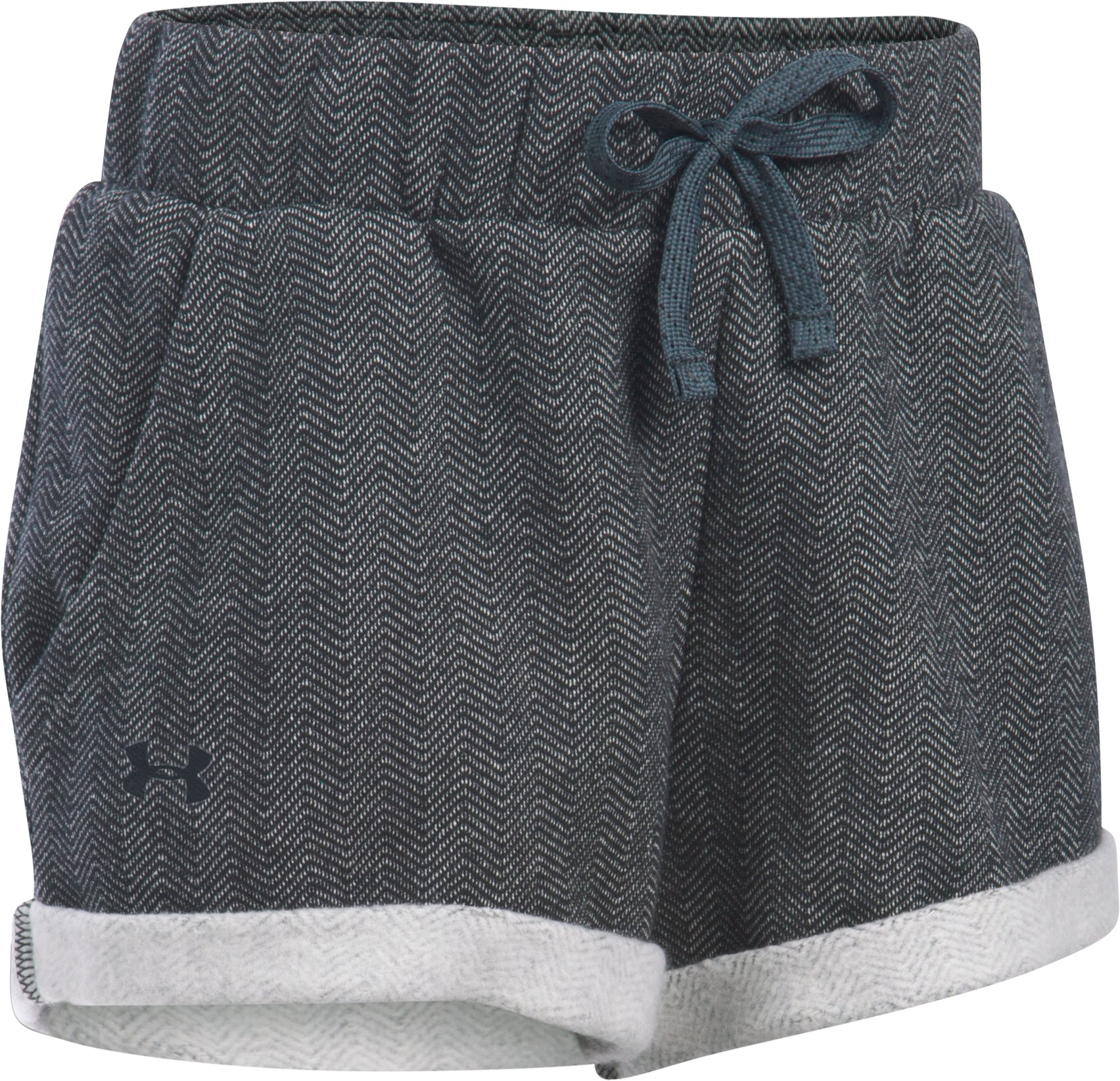 Girls' UA Sweaterknit Bottom, Black , undefined