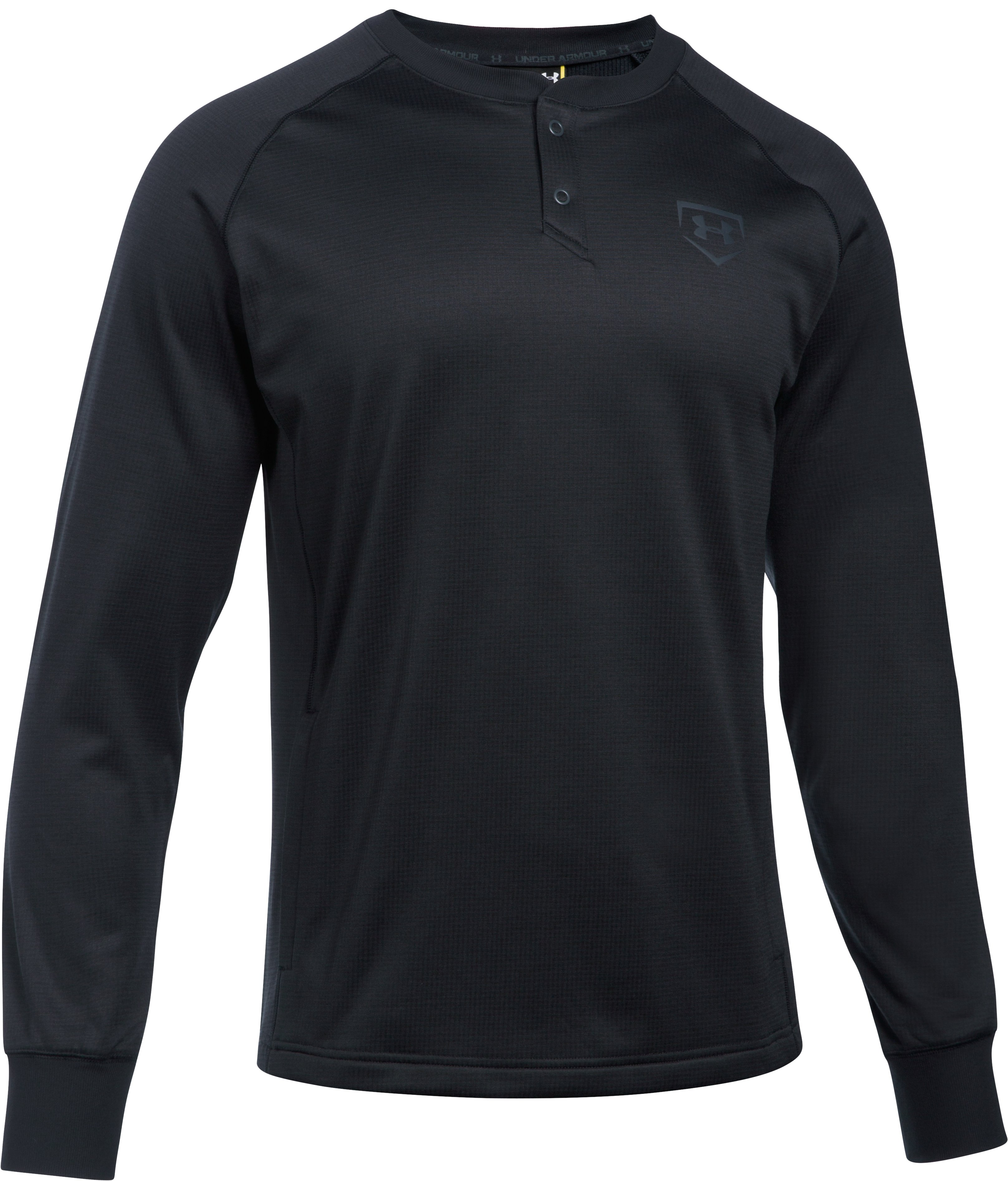 Men's UA Baseball Training Henley, Black ,