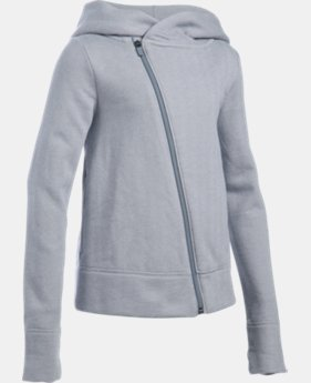 New Arrival Girls' UA Sweaterknit Full Zip Hoodie  1 Color $49.99