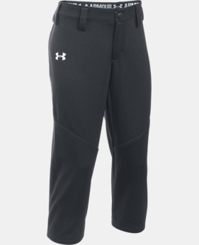 New Arrival  Girs' UA Base Runner Softball Pants   $29.99