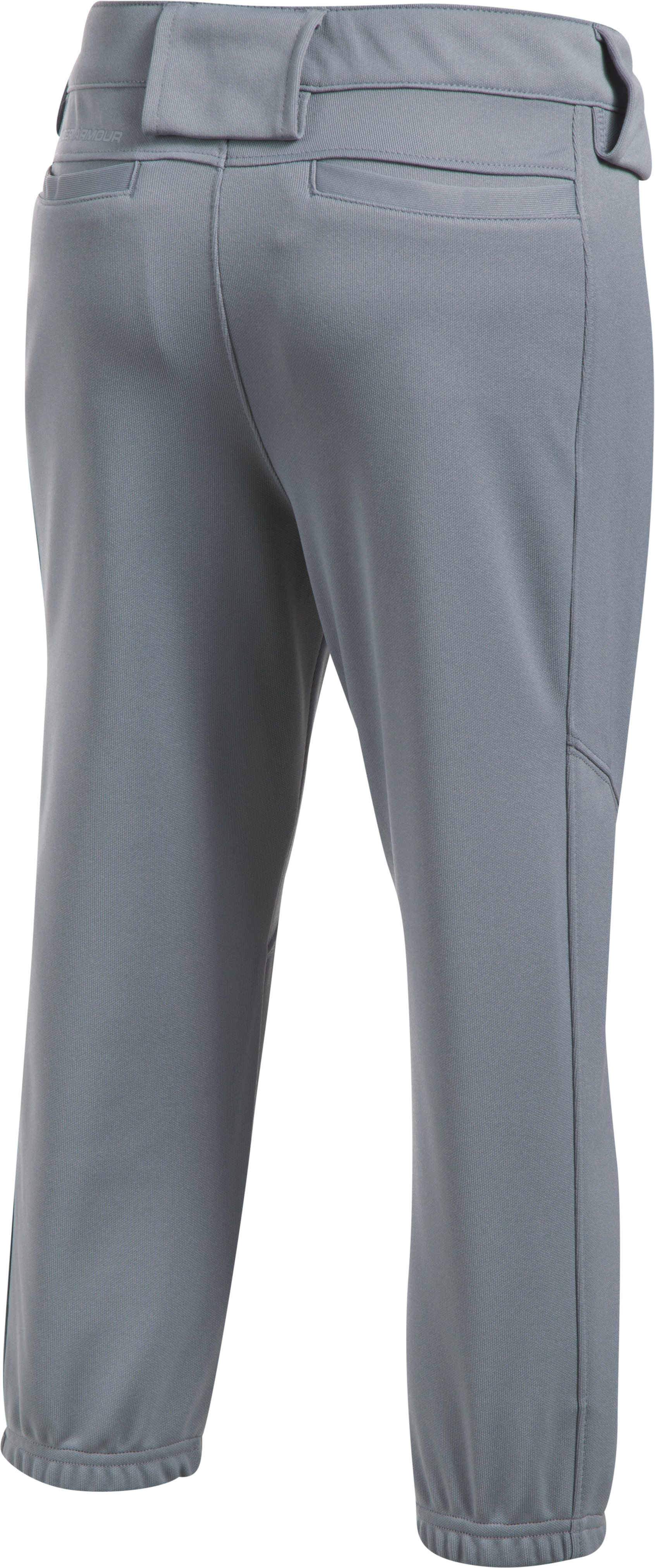 Girls' UA Base Runner Softball Pants, Steel