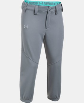 Girls' UA Base Runner Softball Pants  3  Colors Available $24.99